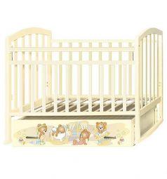 Кровать Антел Алита 4 Медвежата, цвет: слоновая кость