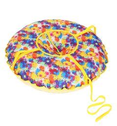 Санки надувные Иглу Народные большие 95 см, цвет: принт кляксы