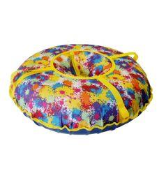 Санки надувные Иглу Народные 60 см, цвет: принт кляксы