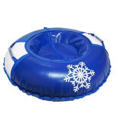 Санки надувные Иглу Снежинка, цвет: синий