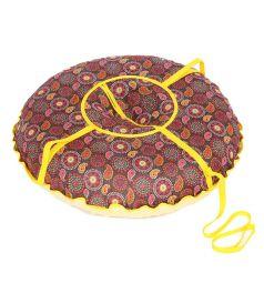 Санки надувные Иглу Народные большие 95 см, цвет: принт стразы