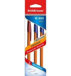 Ручка шариковая Erich Krause R-301 Orange 0.7 Stick 3 шт.
