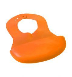 Нагрудник Babyono гибкий, цвет: оранжевый