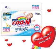 Подгузники Goon (до 5 кг) 36 шт.