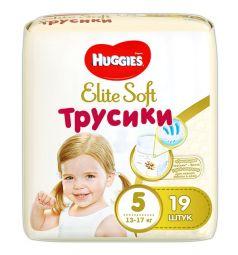 Трусики-подгузники Huggies Elite Soft 5 (12-17 кг) 19 шт.