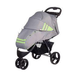 Прогулочная коляска BabyHit Voyage, цвет: серый/зеленый