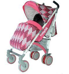 Коляска-трость BabyHit Rainbow, цвет: розовый/ромбы