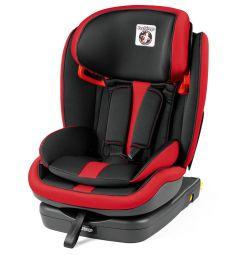 Автокресло Peg-Perego Viaggio 1-2-3 Via, цвет: красный/черный