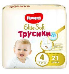 Трусики-подгузники Huggies Elite Soft 4 (9-14 кг) 21 шт.