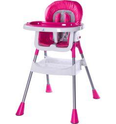 Стульчик для кормления Caretero Pop, цвет: ярко-розовый