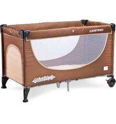 Манеж-кровать Caretero Simplo, цвет: коричневый