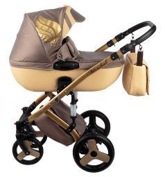 Коляска 2 в 1 Baby World Marshal, цвет: бежевый