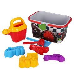 Набор для игры с песком Альтернатива Чудо-детки 8 предметов, для мальчиков