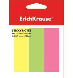 Флажки 300 бумага Erich Krause с клеевым краем 3х25х75 неон