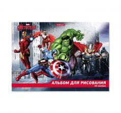 Альбом для рисования А4 20 листов Marvel Мстители Самые могущественные герои земли