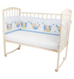Бортик в кроватку Leader Kids Мой слоник, цвет: голубой