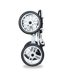 Коляска 2 в 1 Indigo CARMEN 17 S Classic 14, цвет: белый/серый