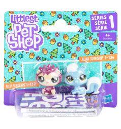 Фигурки Littlest Pet Shop Hildy Hedgehog и Alina Skunkerby 3.5 см