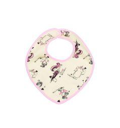 Комплект нагрудник 3 шт Lucky Child Феечки, цвет: белый/розовый