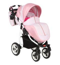 Прогулочная коляска Glory VERO white, цвет: розовый/серый