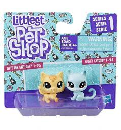 Фигурки Littlest Pet Shop Kitty Von Grey-Cat и Fluffy Catson