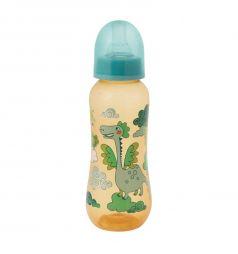 Бутылочка Мир Детства с силиконовой соской полипропилен с рождения, 250 мл, цвет: зеленый