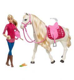 Игровой набор Barbie Кукла и лошадь мечты 29 см