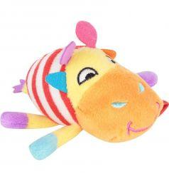 Мягкая игрушка-погремушка Happy Snail Жираф Спот