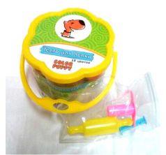 Тесто для лепки Color Puppy формочки+инструменты 18 цв. 315 г желтый