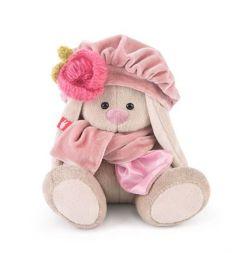 Мягкая игрушка Budi Basa Зайка Ми в берете с цветком 15 см