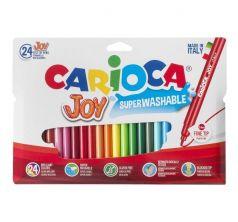 Фломастеры Carioca 24 цв. Joy в пластиковой блистерной упаковке