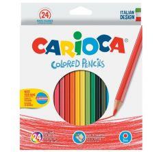 Карандаши цветные Carioca 24 цв.+точилка карт/уп.