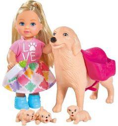 Кукла Simba Еви с собачкой и щенками 12 см