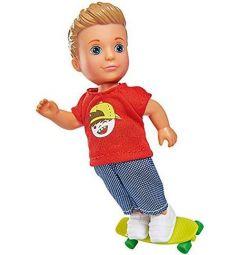 Кукла Simba Еви Тимми - скейтбордист 12 см