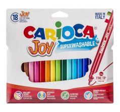 Фломастеры Carioca 18 цв. Joy в пластиковой блистерной упаковке