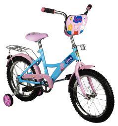 Детский велосипед Navigator Peppa Pig, цвет: розовый/синий