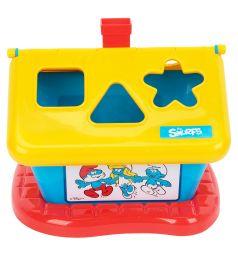 Развивающая игрушка Полесье Смурфики Домик логический № 3 с 6 кубиками 21 x 17 x 22.5 см