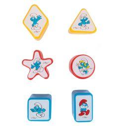 Развивающая игрушка Полесье Смурфики Домик логический № 1 с 6 кубиками 22 x 17 x 20 см