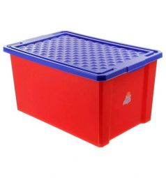 Ящик для игрушек Little Angel 1017LA-RD, цвет: красный