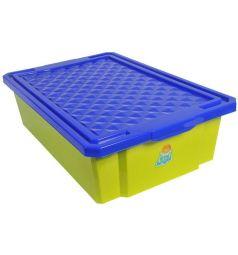 Ящик для игрушек Little Angel 1018LA-GR, цвет: зеленый