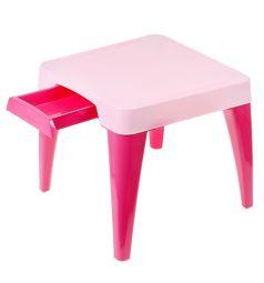 Стол детский Little Angel Я расту, цвет:розовый