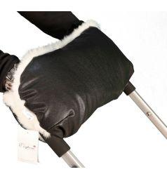 Муфта для рук на коляску Esspero LIT Leatherette, цвет: black-white