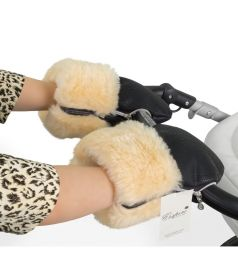 Муфта-рукавички для коляски Esspero Double Leatherette, цвет: Black