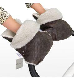 Муфта-рукавички Esspero Karolina, цвет: brown