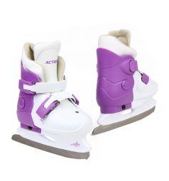 Коньки фигурные Action Sport PW-219 размер:33-36, цвет: белый/фиолетовый