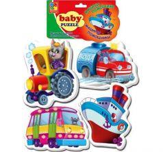 Пазлы мягкие Vladi Toys Транспорт