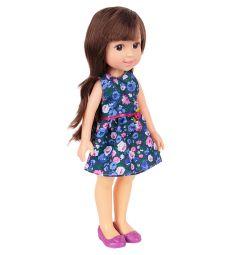 Кукла No Name Летняя прогулка Красотка в синем платье 36 см