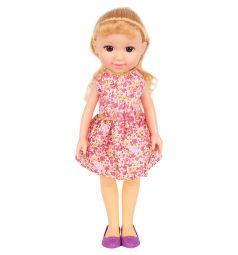 Кукла No Name Летняя прогулка Красотка в розовом платье 36 см
