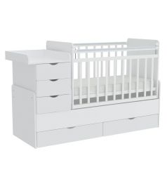 Кровать Фея 1150, цвет: белый
