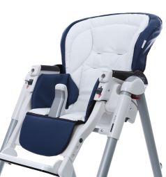 Чехол сменный Esspero к стульчику для кормления Peg-Perego Best Sport, цвет: navy/white